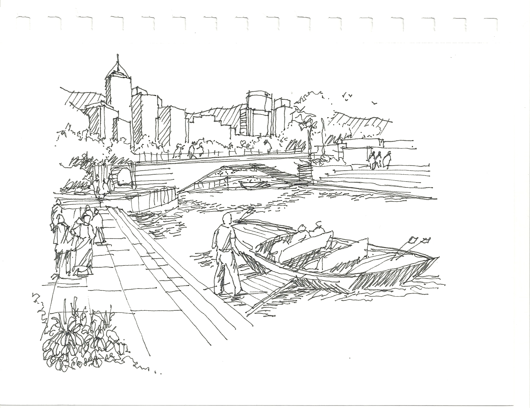 more conceptual waterfront sketches
