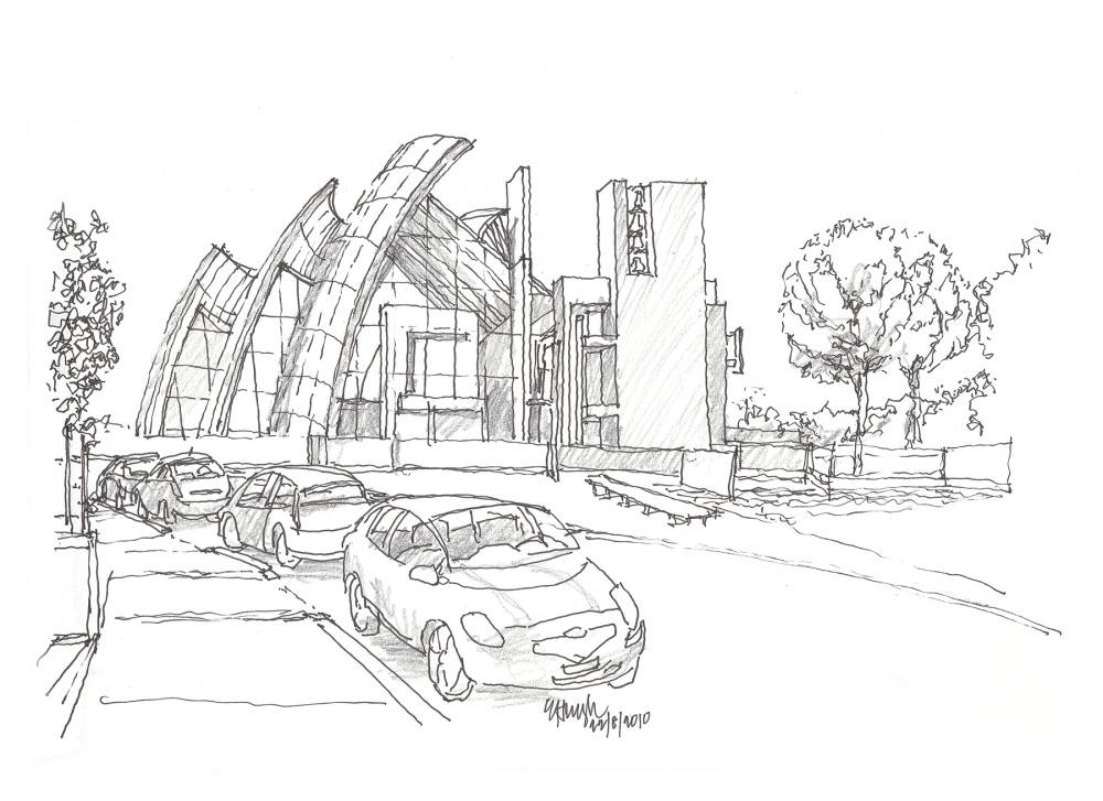 Richard Meier's Jubilee Church, Rome Italy (1/5)