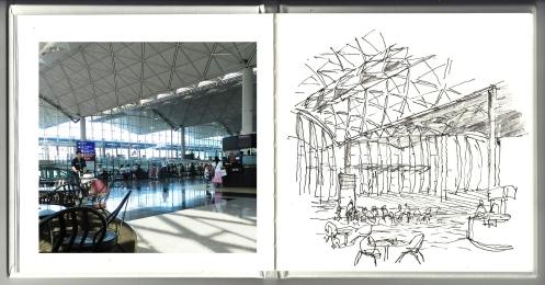 HK Airport sketch 2