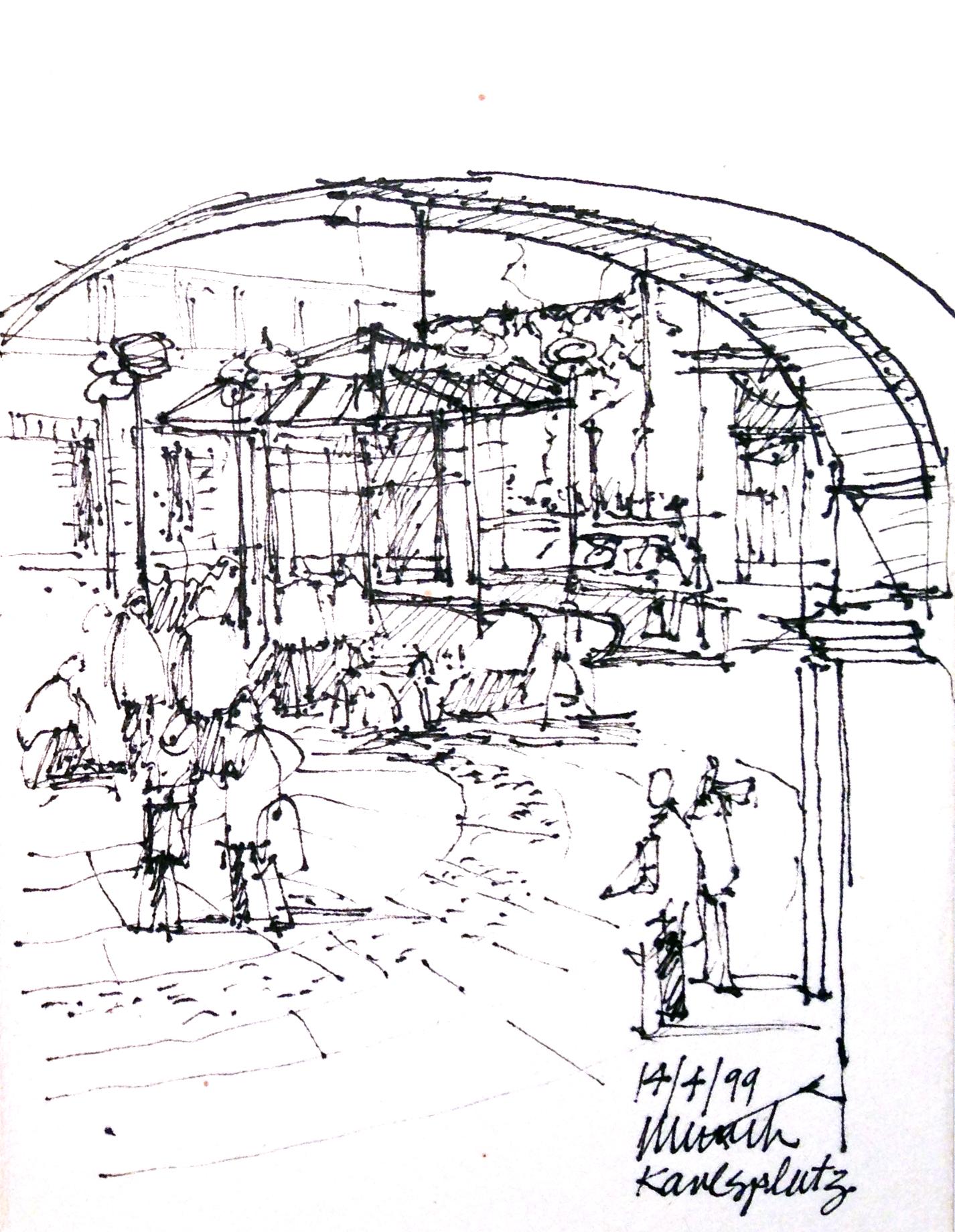 Sketchingjourneys Blog FreeHand OnSite Sketching By Errol - Modern building sketches