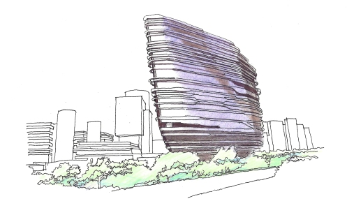 Innovation Tower ext sketch
