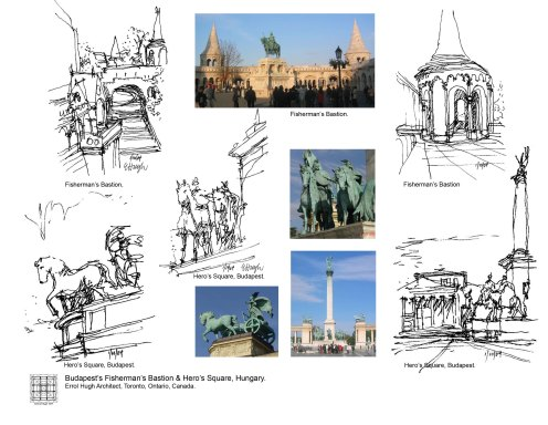 Budapest's Fisherman's Bastion Hero Sq &