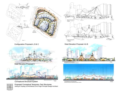 Proposed Conceptual Temporary Tent Structures