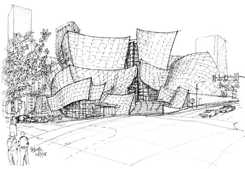 Walt Disney Concert Hall sketch