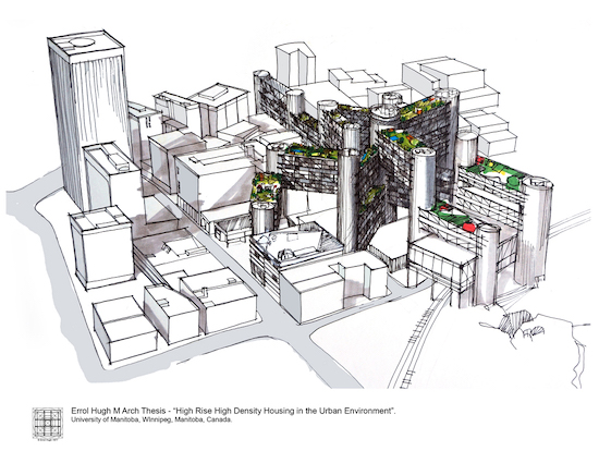 1 M Arch Thesis - High Rise High Density Housing 2a