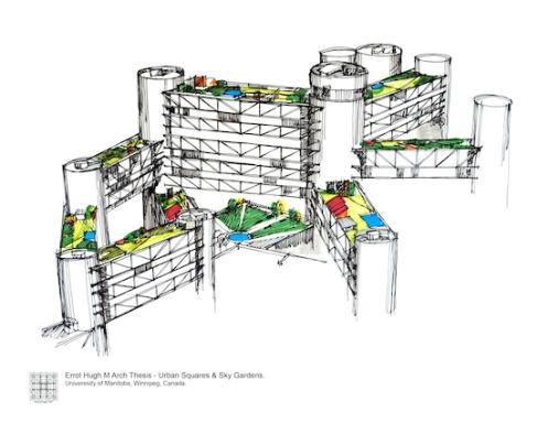 2 M Arch Thesis - Urban Squares & Sky Gardens
